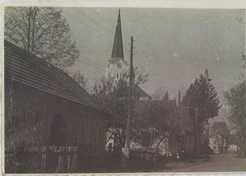 Historické foto kostela v Hladkých Životicích