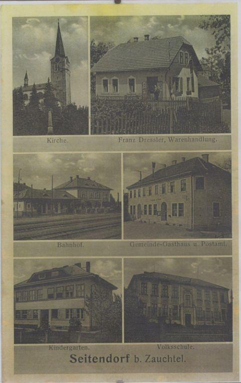 Stará pohlednice z Hladkých Životic